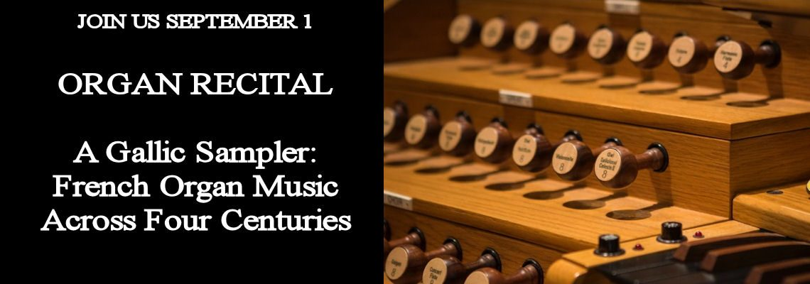 Organ Recital 1 September