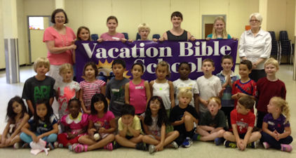 Participants in the 2014 Vacation Bible School